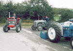 Click here for an enlarged view of a new fergy, an old fergy and a ford